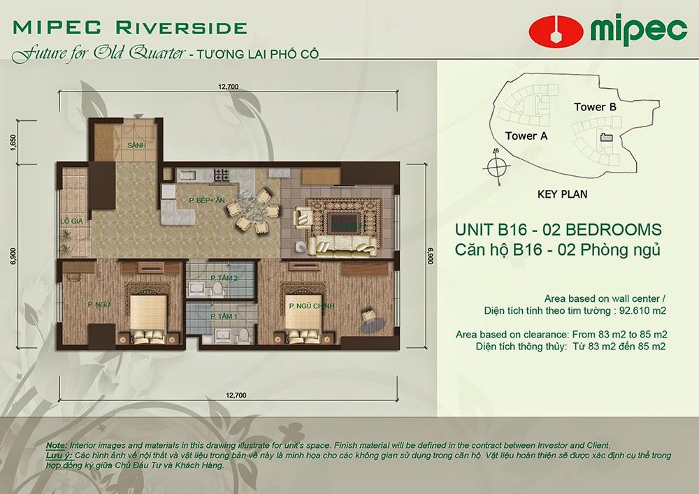Căn B16 cư xá Mipec Riverside