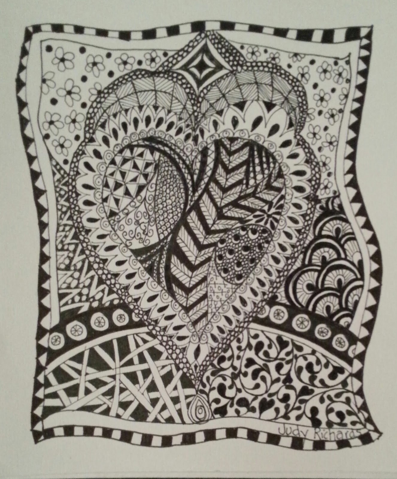 Zentangle Patterns Judy's Zentangle Creat...