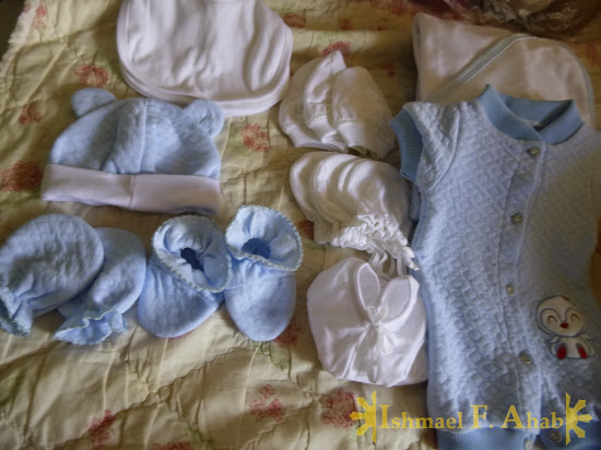 Little Ahab's baby clothes