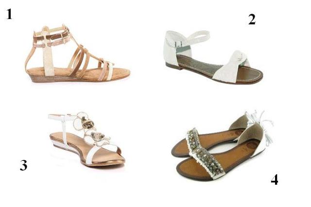 Sandalias planas color blanco P/V 12