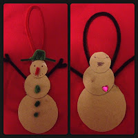 snowman, Christmas, winter, crafts, children, pipe cleaners
