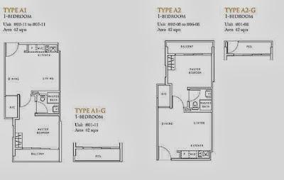 LIV On Wilkie 2 bedroom dual key Floor Plan