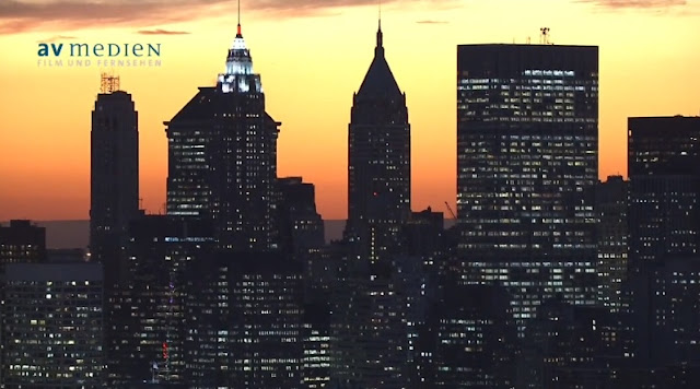 Photo of New York buildings at sunset