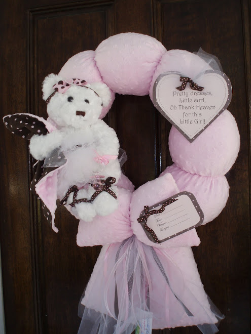 70. pink and brown wreath
