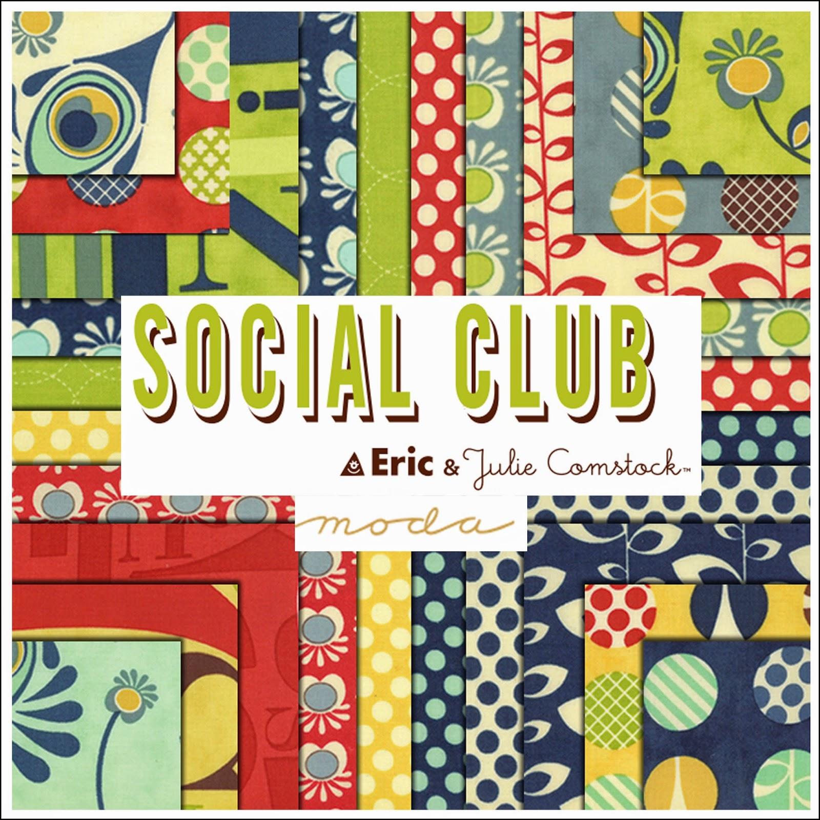 Moda SOCIAL CLUB Quilt Fabric by Eric & Julie Comstock for Moda Fabrics