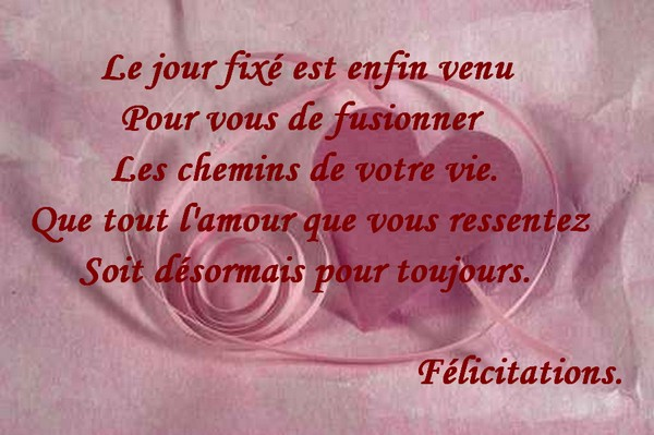 flicitations le jour fix est enfin venu pour vous de fusionner - Texte De Felicitation De Mariage