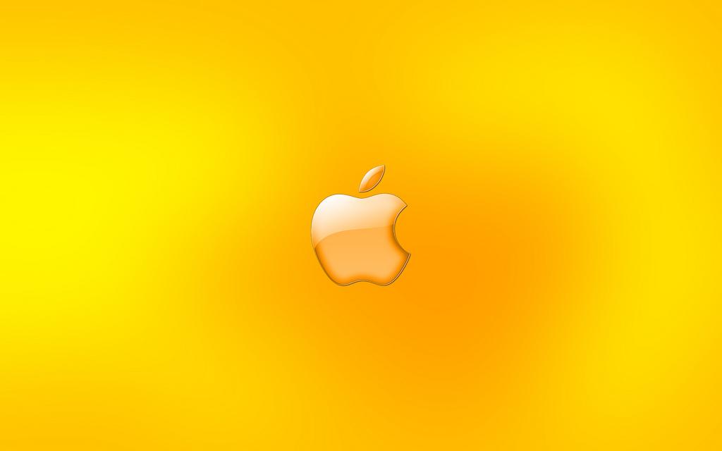 yellow apple logo wallpaper apple logo yellow widescreen hd wallpaper