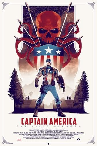 New York Comic Con 2015 Exclusive Captain America: The First Avenger Regular Edition Marvel Screen Print by Matt Ferguson & Grey Matter Art