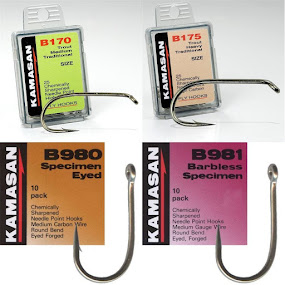 Kamasan B170 B175 B980 B981 Hooks - Sizes 2-20 - Packets of 10,25,100