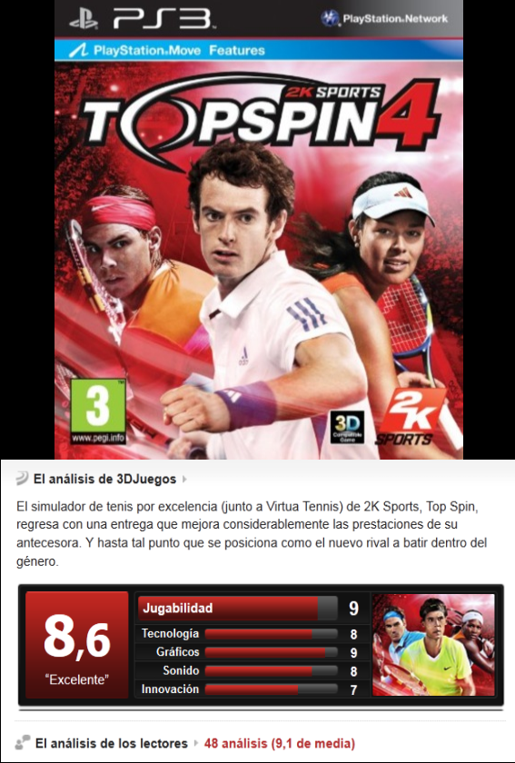 Top Spin 4 -PS3-