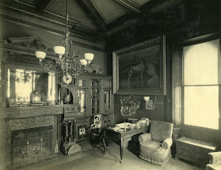 G.G. Green's private library in his Victorian era mansion Gray Towers in Woodbury, NJ