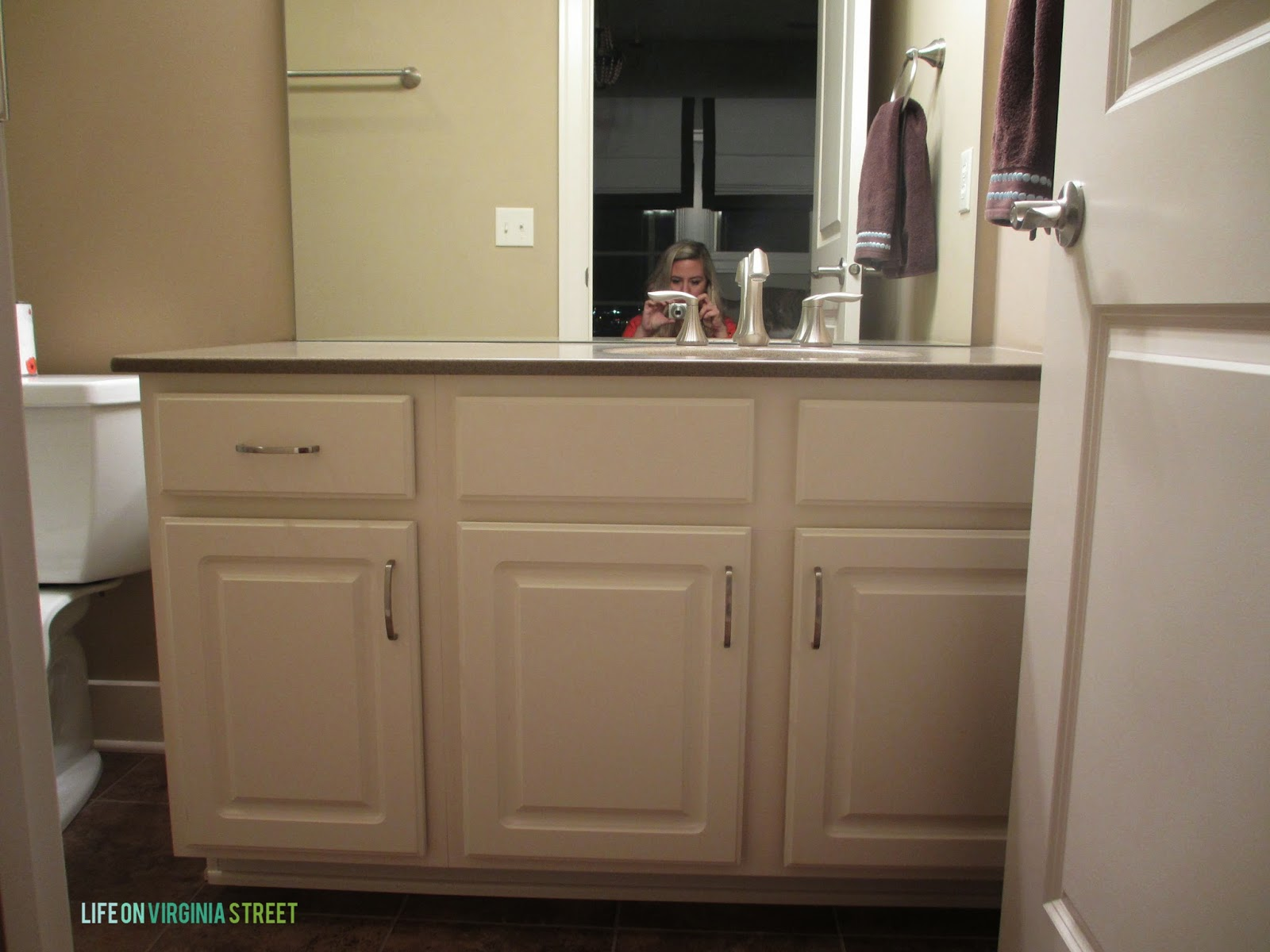 bathroom vanity makeover using country chic paint life on virginia
