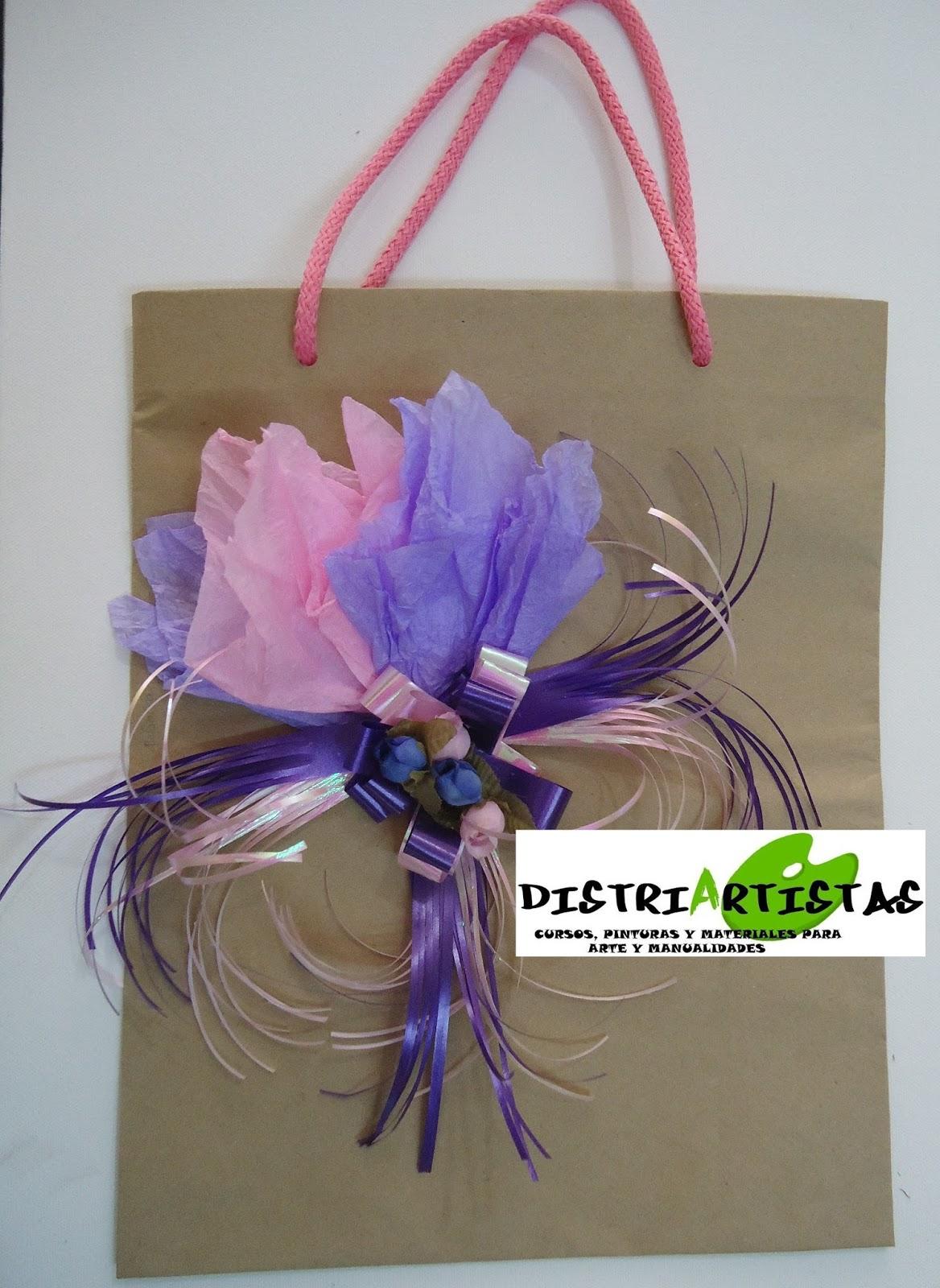 Distriartistas curso de bolsas de regalo mo os empaques - Bolsas de regalo personalizadas ...