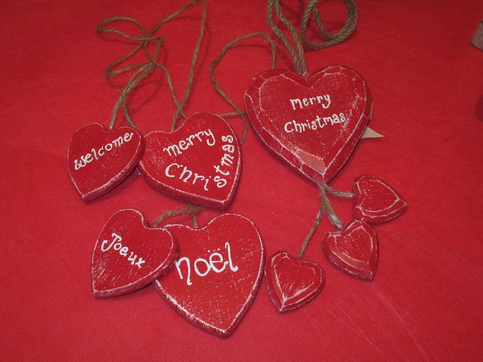 cuori di legno, red hearts, regalino fai da te per natale, regalo handmade