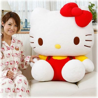 Giant Hello Kitty plush soft toy