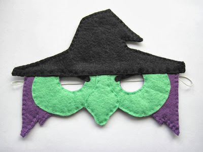 PDF Pattern for Felt Witch Halloween Mask