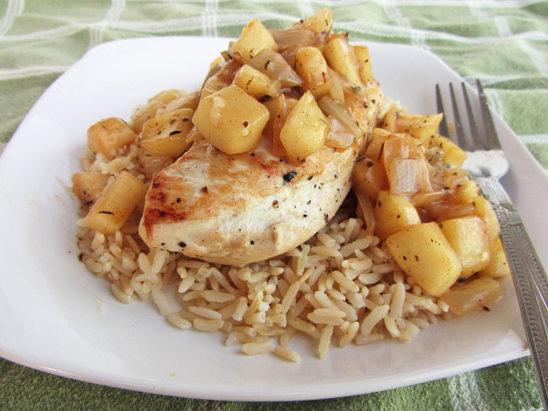 chicken apple saute