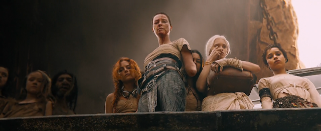 Imperator Furiosa and the Five Wives look down upon the Citadel (Mad Max Fury Road)