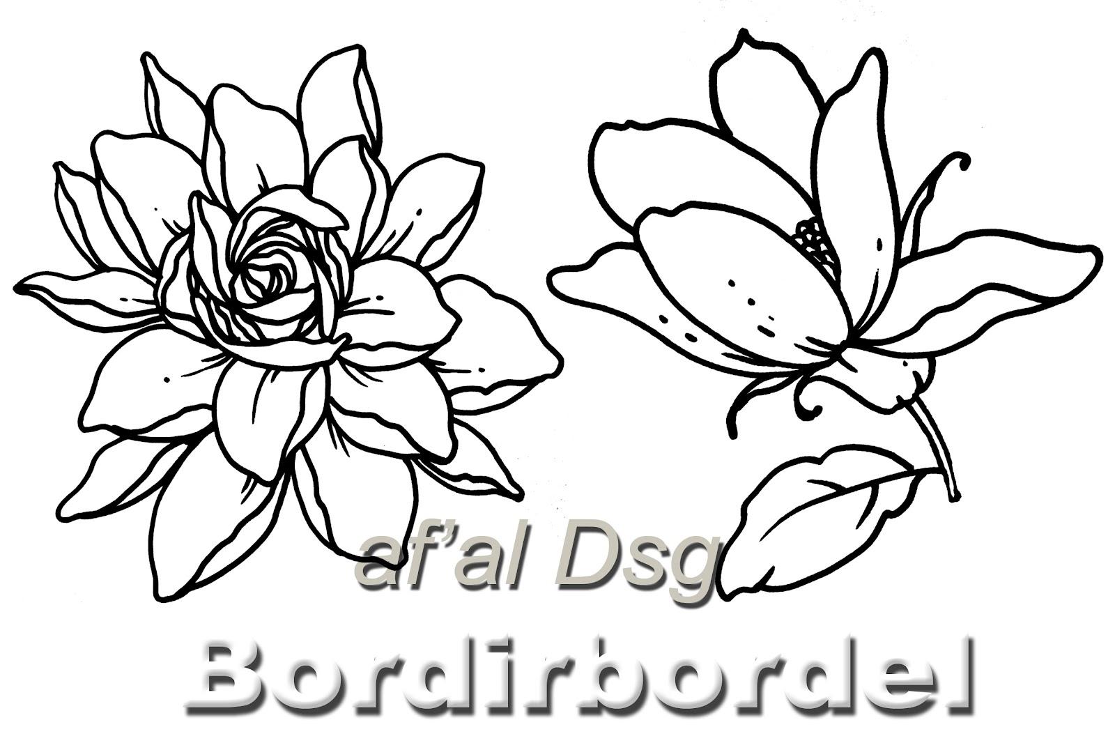 Contoh Gambar Motif Bunga Untuk Bordir Bordir