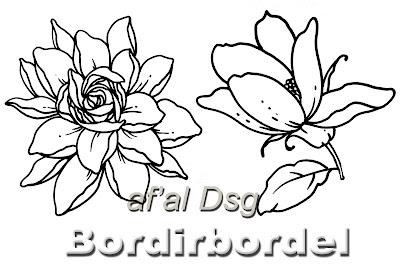 Contoh Gambar Motif Bunga Untuk Jahit Bordiran