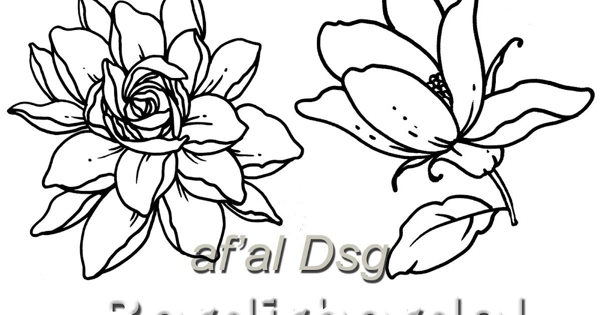 Contoh Gambar Bunga Untuk Sablon Baju Batik