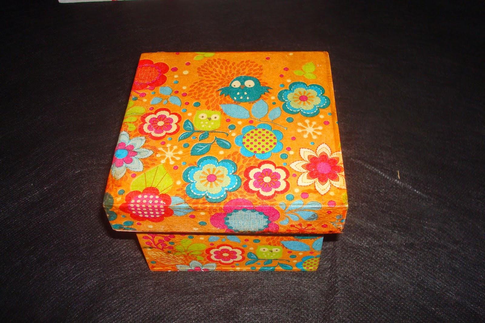 Tienda de objetos cajas decoradas con papel - Cajas forradas de papel ...