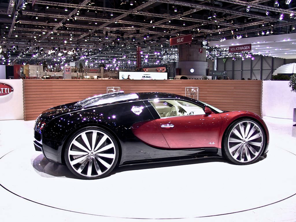 car that shiny bugatti veyron with big wheels. Black Bedroom Furniture Sets. Home Design Ideas
