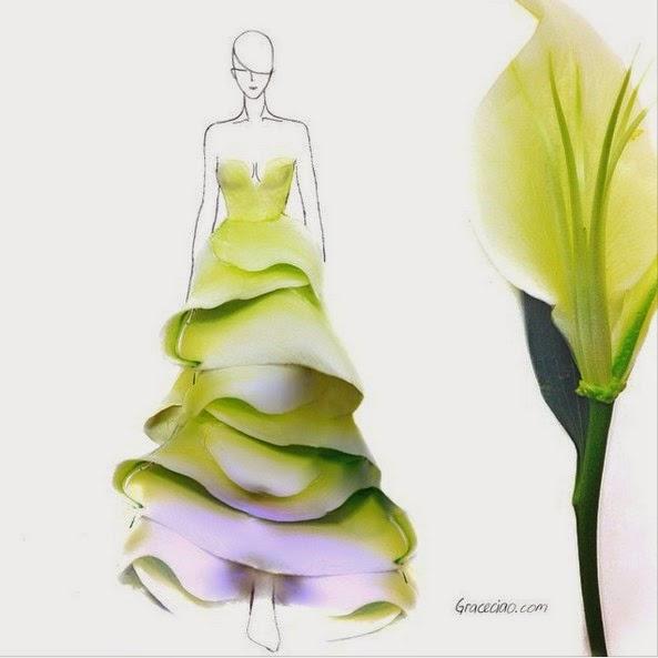 Diseño Natural, Moda con Petalos de Flores