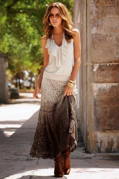 Бесподобно красивая ажурная юбка