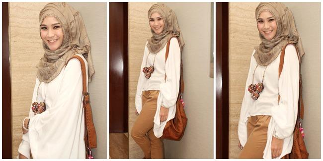 Tutorial Hijab Simple Trendy Segi Empat Ala Zaskia Adya | New Style ...