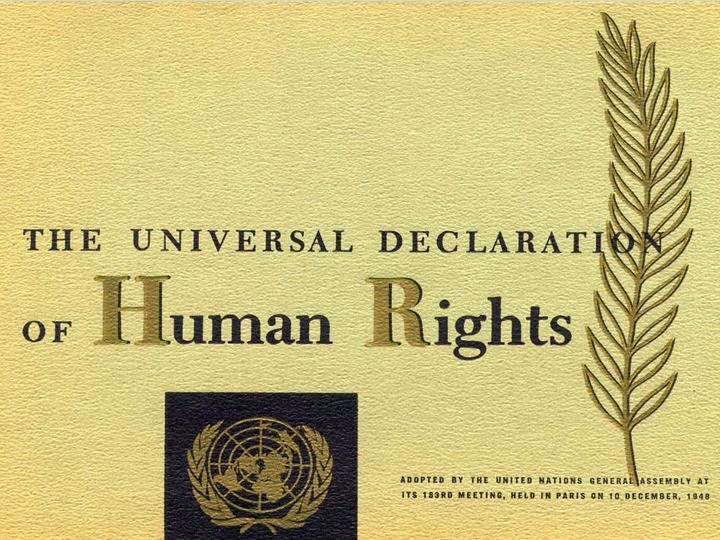 {The Universal Declaration Of Human Rights}