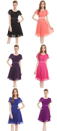 Simple Short Flounce Sleeve Midi Dress
