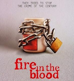 Fuego en la sangre documentary documental póster drugs chain lock locked medicine pills bottle