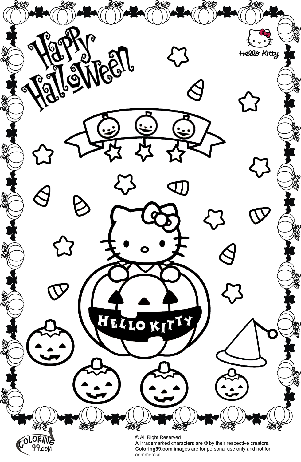 kid coloring pages halloween hello - photo#23