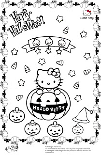 hello kitty halloween pumpkin coloring pages
