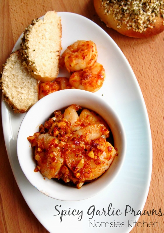 Spicy Garlic Prawns Recipe from Nomsies Kitchen