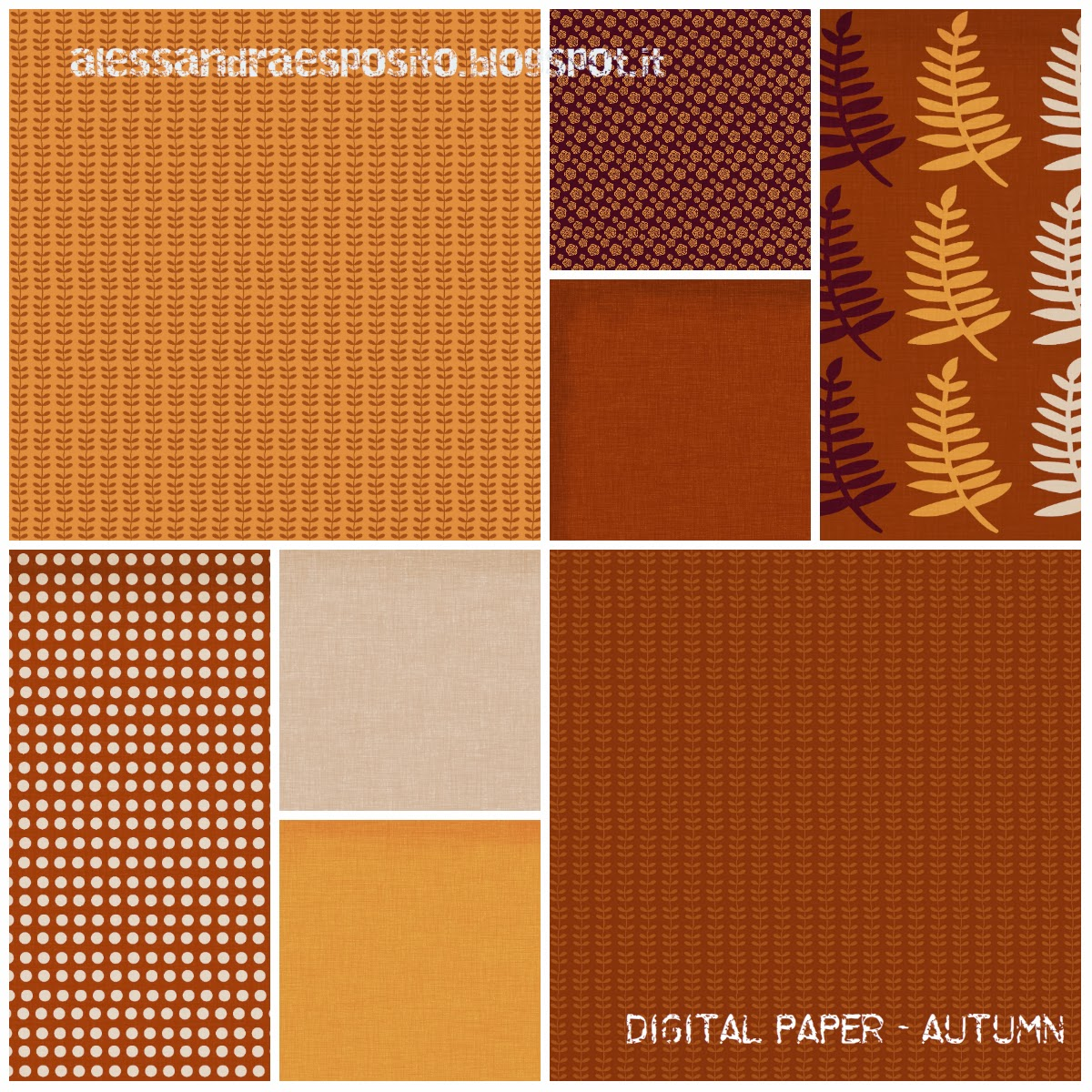 Free scrapbook autumn papers from Alessandra Esposito