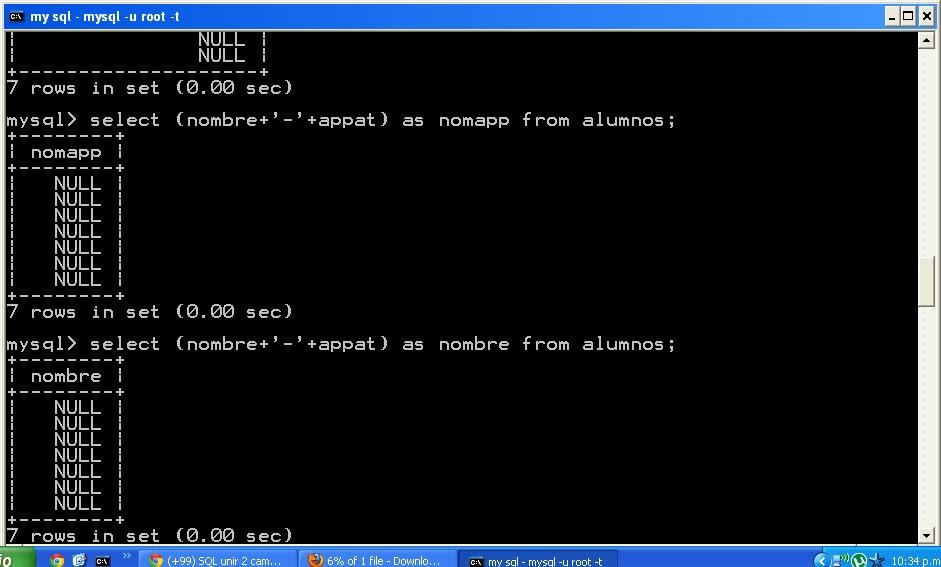 SQL unir 2 campos (concatenar)
