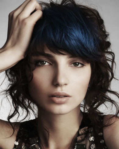 Black Hair with Blue Highlights 2014