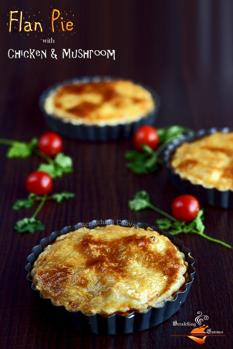 Chicken Mushroom Flan Pie