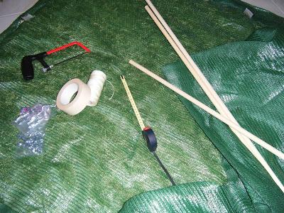 Conjunto de materiais utilizados na construção da marquise