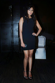 Actress Deepa Sannidhi  Pictures in Short Dress at Enakkul Oruvan Audio Launch 17.jpg