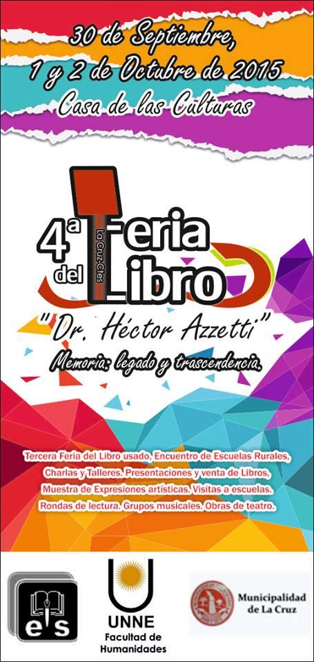 """IV FERIA DEL LIBRO """"DR. HÉCTOR AZZETTI"""""""