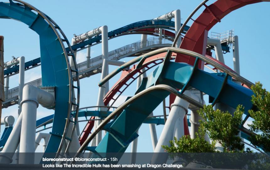 Roller Coaster Demolition : Dueling dragons demo picture update amusement insider