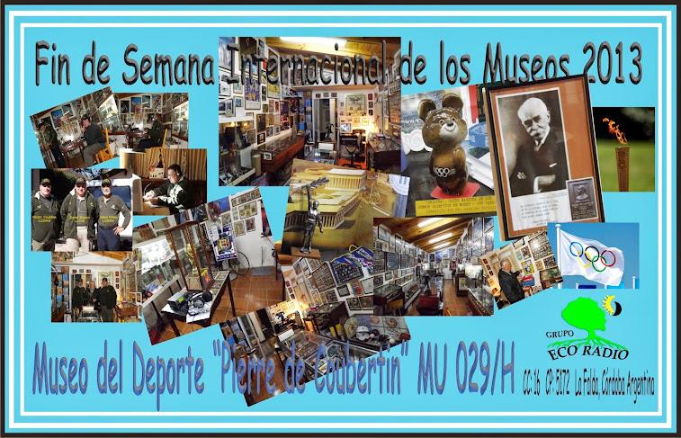 """QSL Museo del Deporte """"Pierre de Coubertín"""" La Falda, Córdoba."""