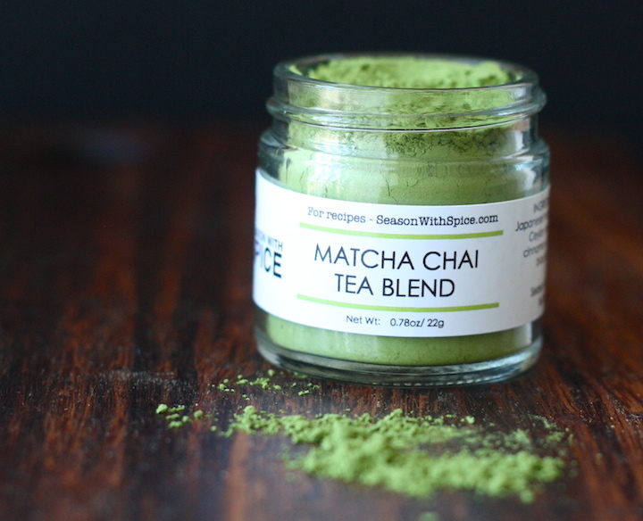 Matcha Chai Tea Blend available at SeasonWithSpice.com