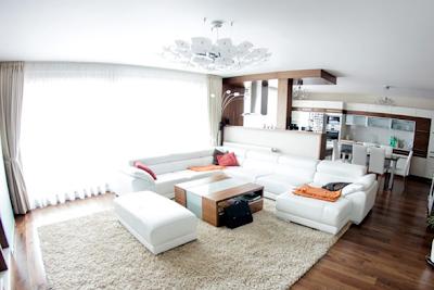 sala comedor apartamento moderno