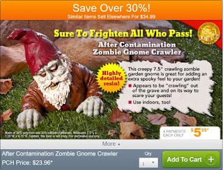 Zombie Gnome Crawler from Publishers Clearing House