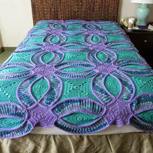 Crochet Quilt : Wedding Ring Crochet Quilt