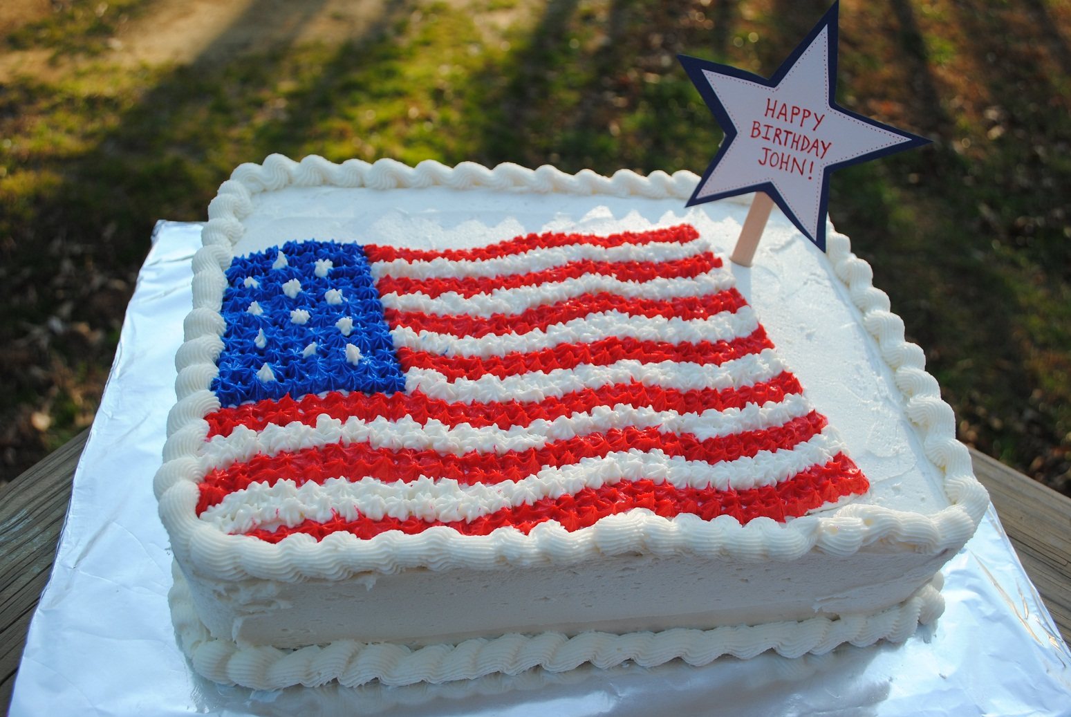 American Flag Cake A chocolate cake with